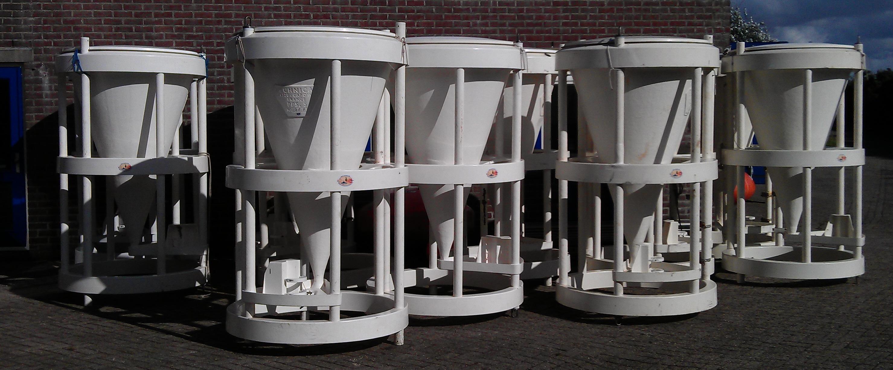 De sedimentvallen staan klaar op Texel